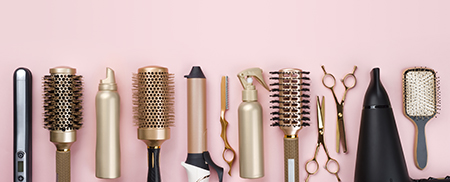 various hair styling tools